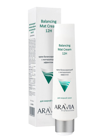 Балансирующий крем для лица с матирующим эффектом «Balancing Mat Cream 12H» Aravia Professional