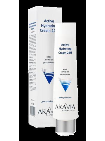 Крем для лица «Активное увлажнение «Active Hydrating Cream 24H» Aravia Professional