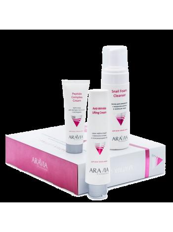 Набор для упругости и молодости кожи c пептид-комплексом «Matrix Lifting» Aravia