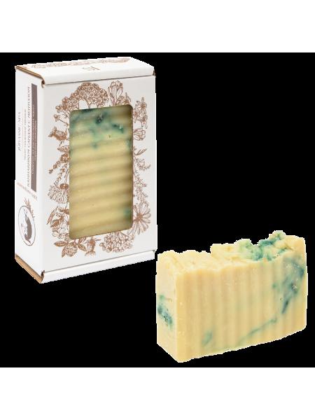 Натуральное конопляное мыло (сандал, ментол и травы)