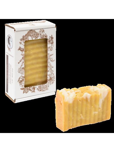 Натуральное мыло для душа балансирующее (медовая мелисса)