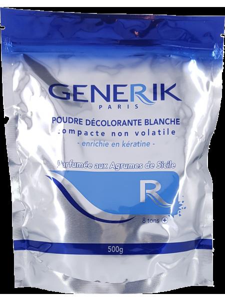 Обесцвечивающая белая пудра с кератином Generik