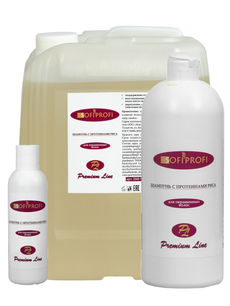 Шампунь для окрашенных волос с протеином риса SofiProfi