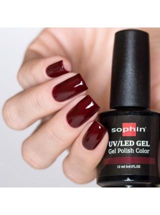Гель-лак Sophin №0718 (бордовый)