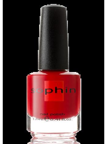 Насыщенный красный лак для ногтей Sophin