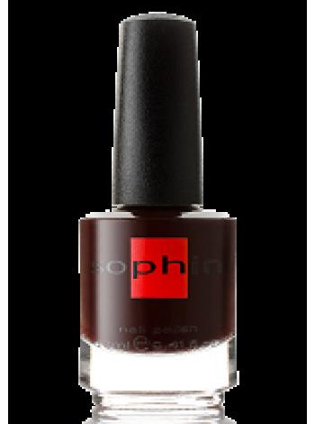 Тёмно-бордовый лак для ногтей Sophin