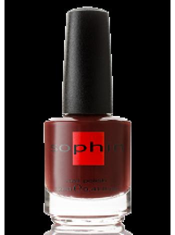 Коричнево-бордовый лак для ногтей Sophin
