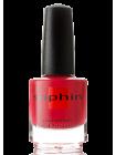 Красный лак для ногтей с малиновым оттенком Sophin