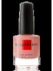 Персиково-розовый лак для ногтей Sophin с разноцветным микрошиммером