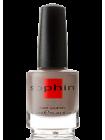 Лак для ногтей Sophin цвета кофе с молоком с золотистым наношиммером