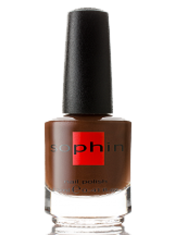 Шоколадно-коричневый лак для ногтей Sophin с микроперламутром