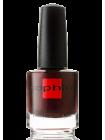 Тёмный коричнево-бордовый лак для ногтей Sophin с бордовым и малиновым шиммером