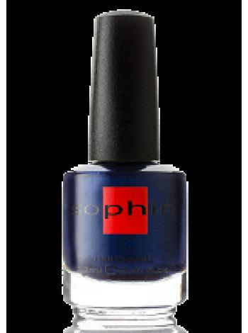 Сине-фиолетовый лак для ногтей Sophin с мелкими блёстками