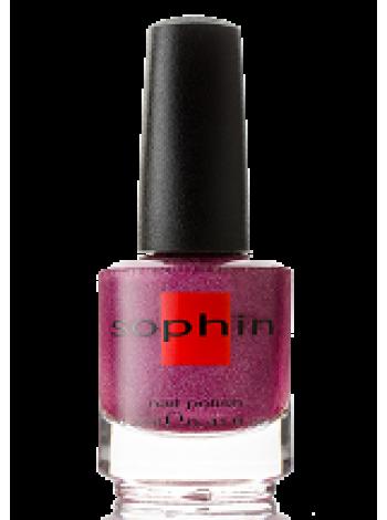 Фуксийно-розовый лак для ногтей Sophin с голографическим эффектом