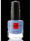 Васильково-голубой лак для ногтей Sophin с мелким серебристым шиммером