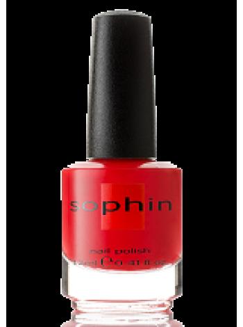 Розово-красный лак для ногтей Sophin с розовым и серебристым шиммером