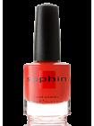 Красно-оранжевый лак для ногтей Sophin с серебристым шиммером