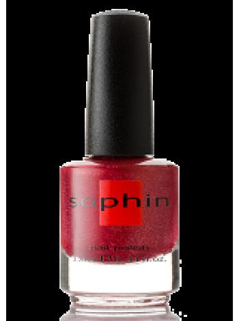 Тёмно-красный лак для ногтей Sophin 0296