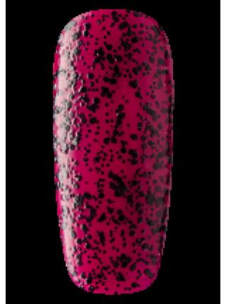 Лак Sophin №0323 (малиновый, с чёрным глиттером)