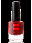 Лак Sophin №0324 (красный с чёрным глиттером)